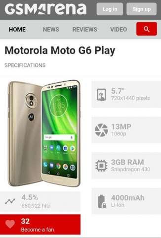 Motorola G6 Play Se Vende O Se Cambia