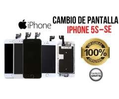Pantallas para Iphone 5s y SE 100% originales blancas y negras instalación gratis y...