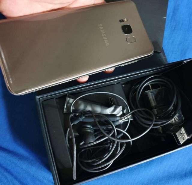 S8 Plus Dorado con Todo