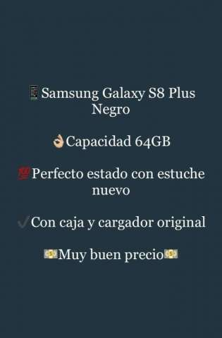 Samsung Galaxy S8 Plus Negro 64Gb